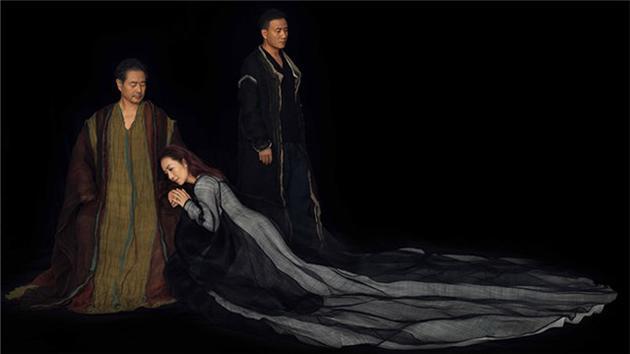 胡军濮存晰主演哈姆雷特剧照。