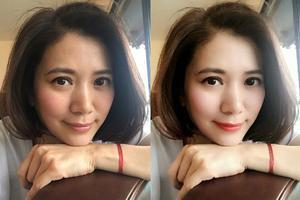 粉丝将袁咏仪的自拍照加上美肌