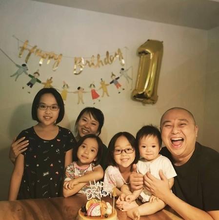 林盛斌结婚将近12年,拥有3女1男