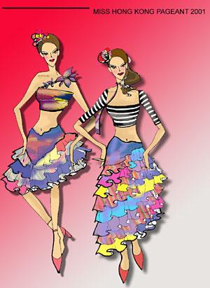 服装设计图 手绘 晚礼服展示