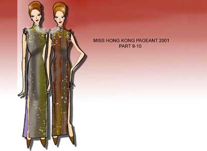 图文:服装设计之决赛篇(28)--风情款款的雪纺旗袍