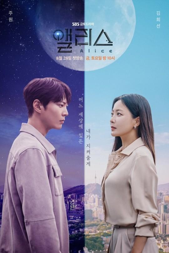 韩剧《爱丽丝》海报公开 金喜善周元穿越时空对视
