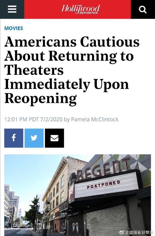 好莱坞报道者调研观众观影意愿 过半数人愿回影院|好莱坞|调研|观影_新浪娱乐_全信网